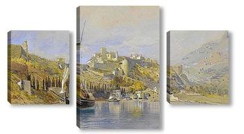 Модульная картина Вид на замок и гавань, Монако