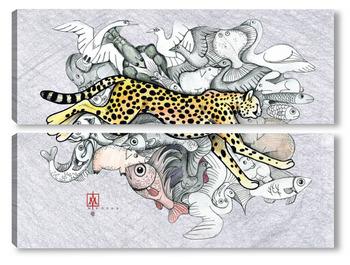 Модульная картина Охота