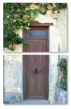 Модульная картина дверь