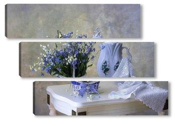 Модульная картина Незабываемые весенние цветы