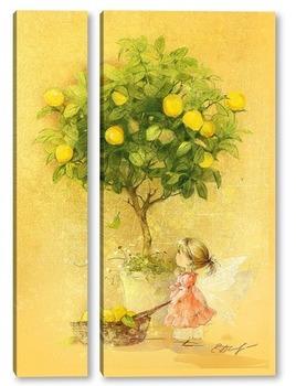 Модульная картина Лимонная фея