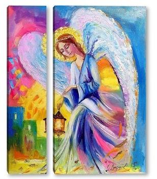Модульная картина Ангел спокойствия и умиротворения