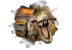 Наклейки 3D динозавр