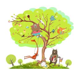 Наклейки Посиделки на дереве