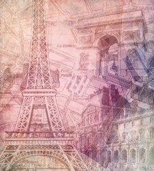 Наклейки Париж. Коллаж