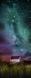 Наклейки Домик под звездным небом