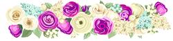 Наклейки Цветущие розы