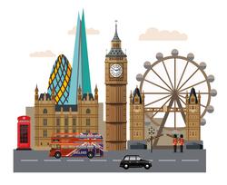 Наклейки Лондон таун