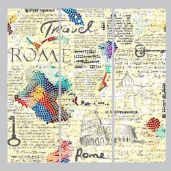 Наклейки коллаж Рим