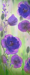 Наклейки Фиолетовые маки