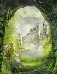 Наклейки Сказочный замок в лесу