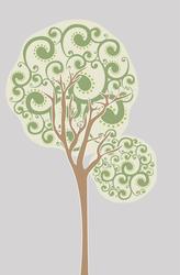 Наклейки Дерево круглое