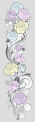 Наклейки Пастельные розы
