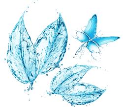 Наклейки Водяная абстракция