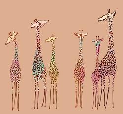 Наклейки Симпатичные жирафы