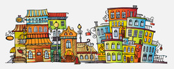 Красочный городок