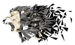 Наклейки Тигр- абстракция