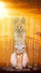 Наклейки Солнечный леопард