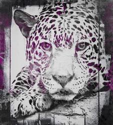 Наклейки Сиреневый леопард