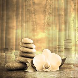 Наклейки Орхидея и колонны