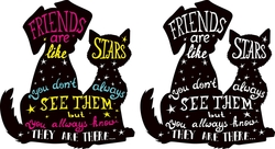 Наклейки Звездная дружба