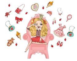 Наклейки Принцесса на кресле