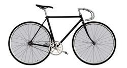 Наклейки Стильный белый велосипед