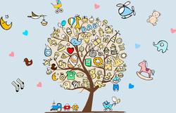 Наклейки Детское дерево