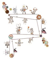 Наклейки Веселые роботы
