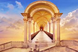 Наклейки Дорога в небесное пространство