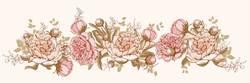 Наклейки Орнамент из цветков пиона