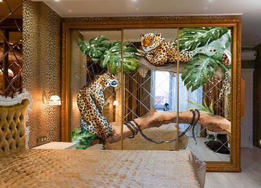 Наклейка Леопарды на дереве