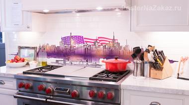 Наклейка панорама New York