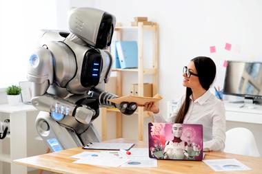 Наклейка инновационный робот