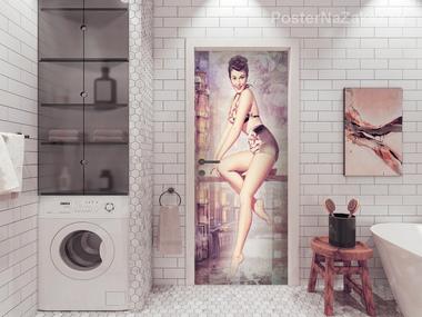 Наклейка Девушка в купальнике