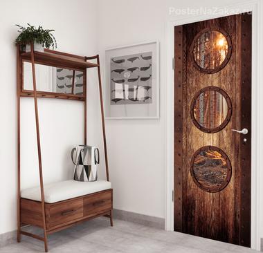Наклейка Дверь с окошками