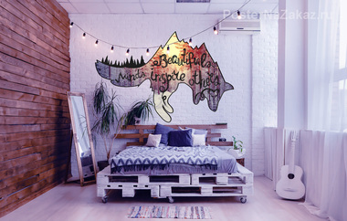 Наклейка Мечтающий волк