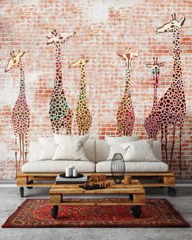 Наклейка Симпатичные жирафы