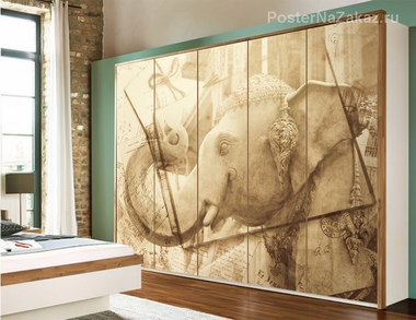 Наклейка Индийский слон