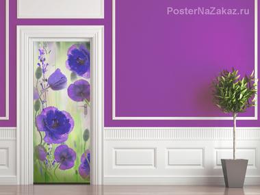 Наклейка Фиолетовые маки
