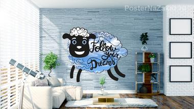 Наклейка Мечта Овечки