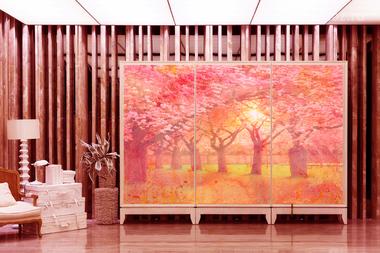 Наклейка Цветущие деревья