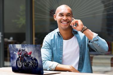 Наклейка Спортичный мотоцикл