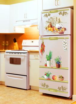 Наклейка Композиция на холодильник