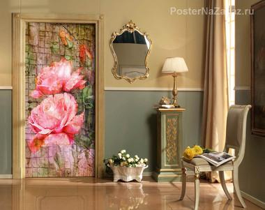 Наклейка Розовые розы