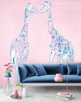 Наклейка Пара жирафов