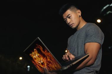 Наклейка Огненной тигр