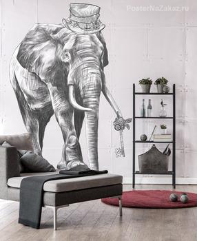 Наклейка Элегантный слон