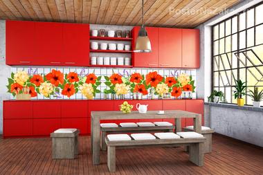 Наклейка Цветочки в кухню