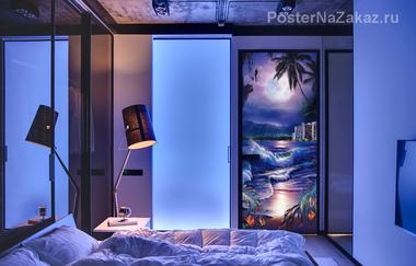 Наклейка Ночное море